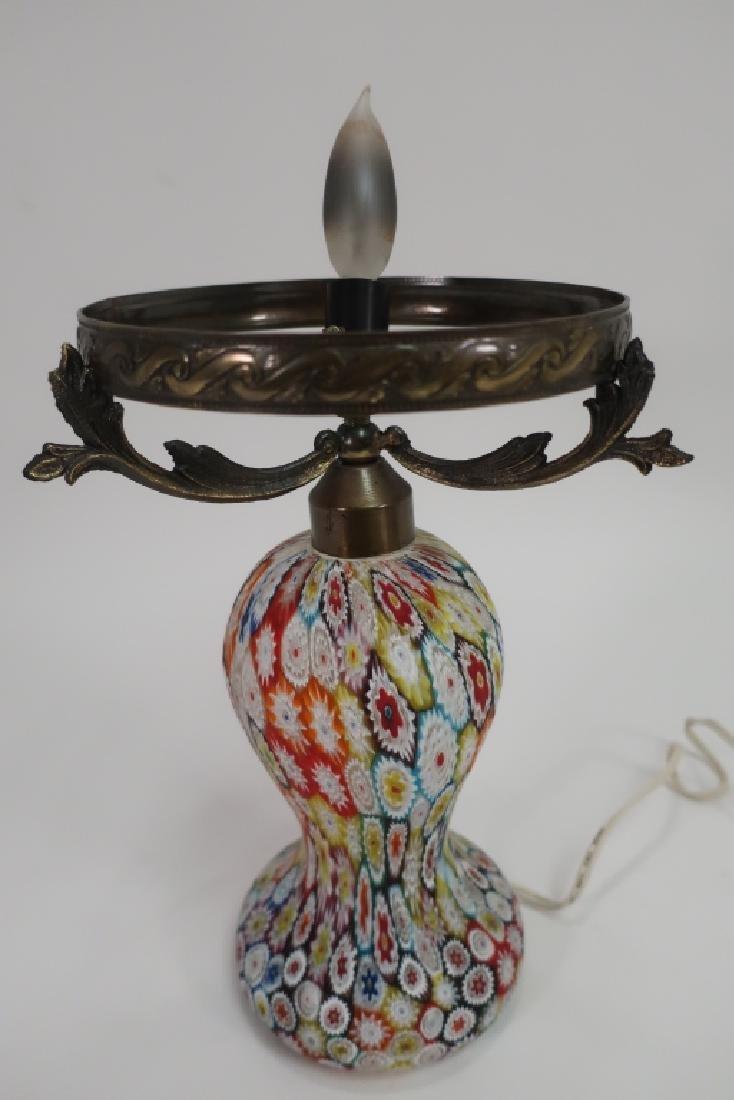 Italian Millefiori Table Mushroom Lamp - 2