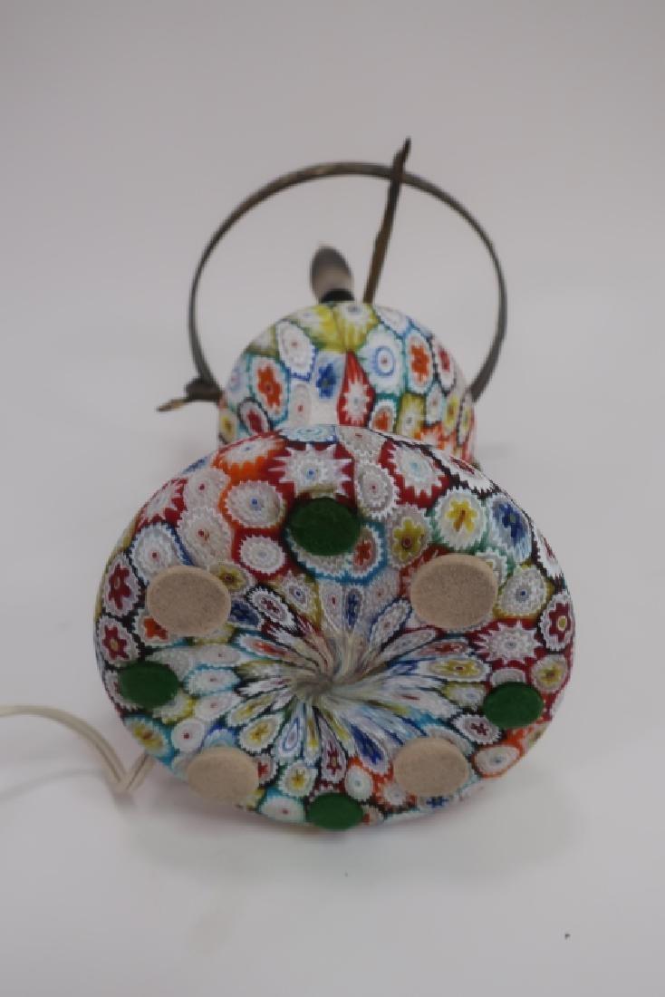 Italian Millefiori Table Mushroom Lamp - 7