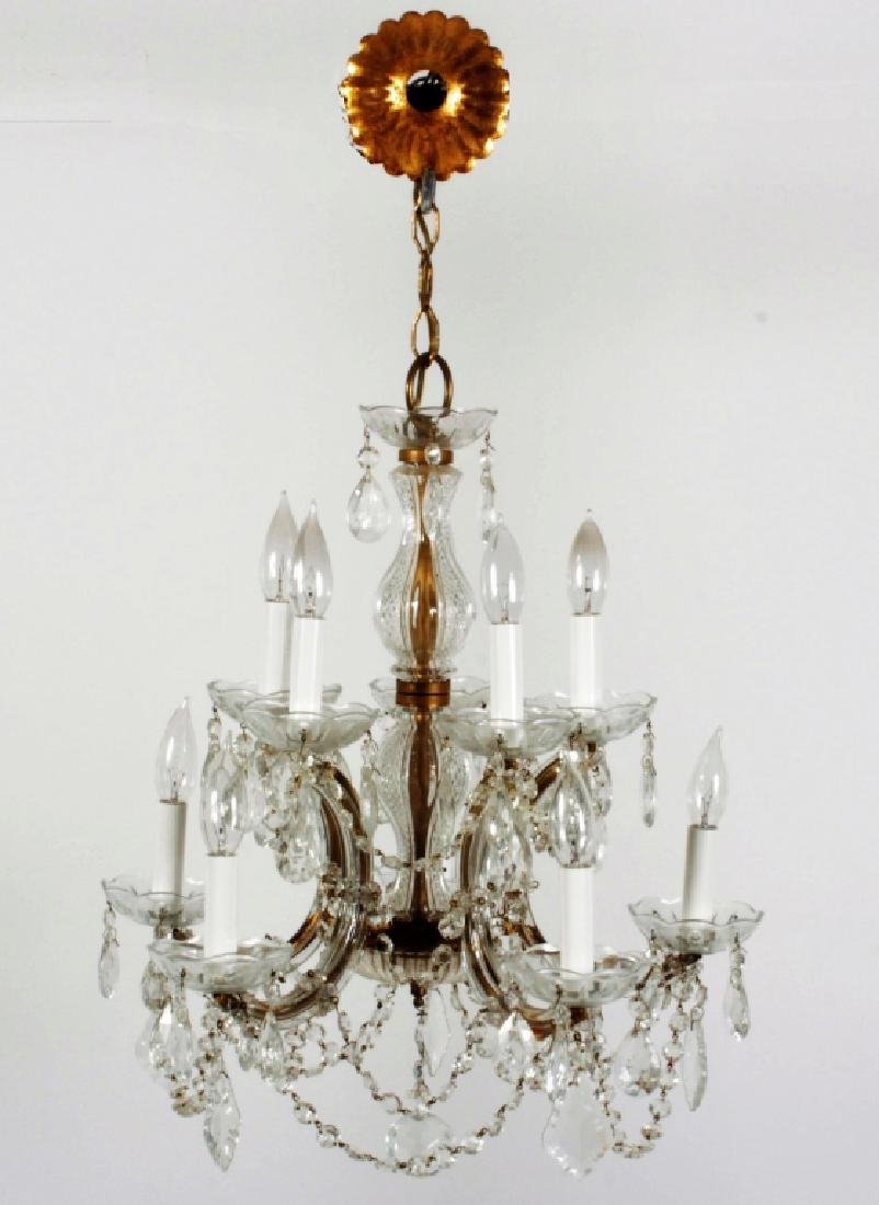 10 Light Cut Glass/Crystal Chandelier