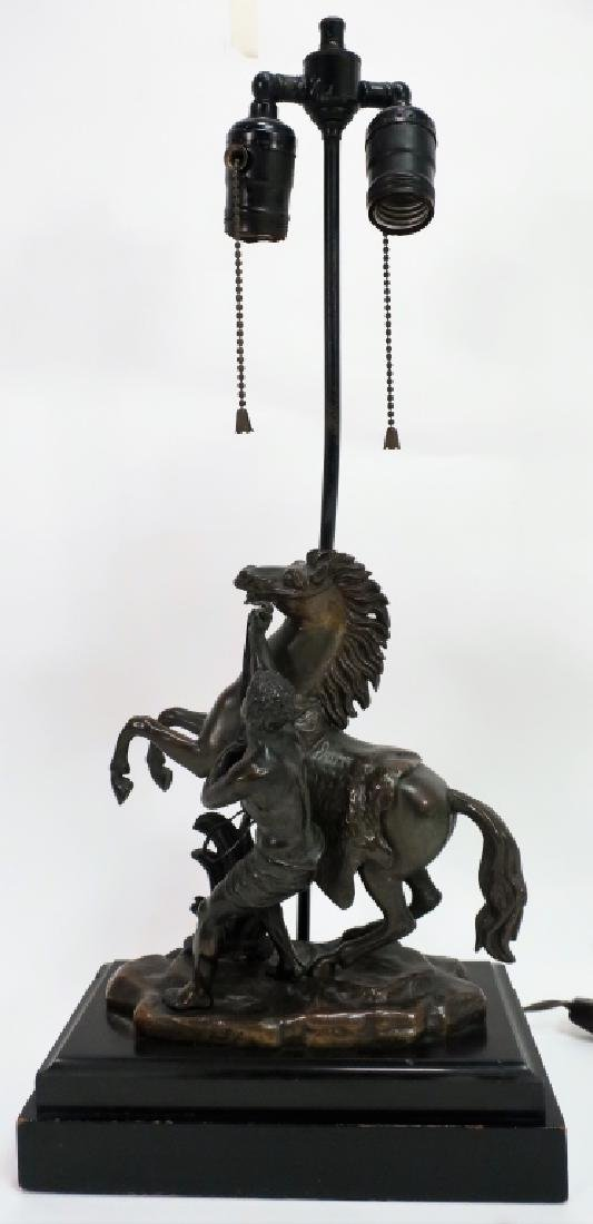 Bronze Horse Lamp after Guillaume Coustou