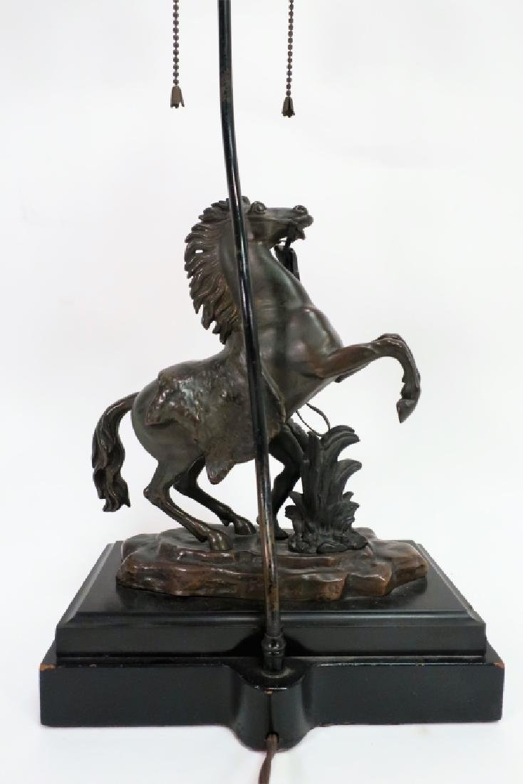 Bronze Horse Lamp after Guillaume Coustou - 3