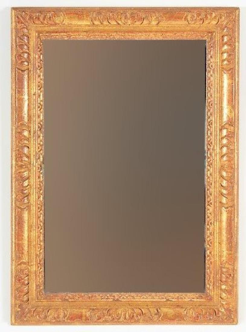 Gold Leafed Gilt Wood Gesso Mirror