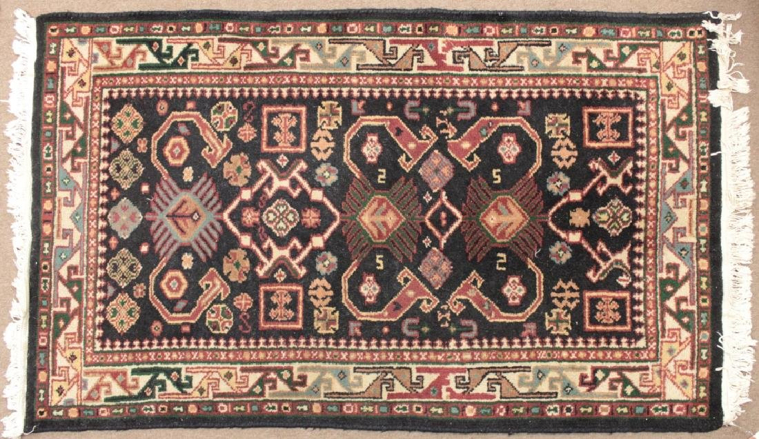Two Oriental Rugs - Black & Red Grounds - 2