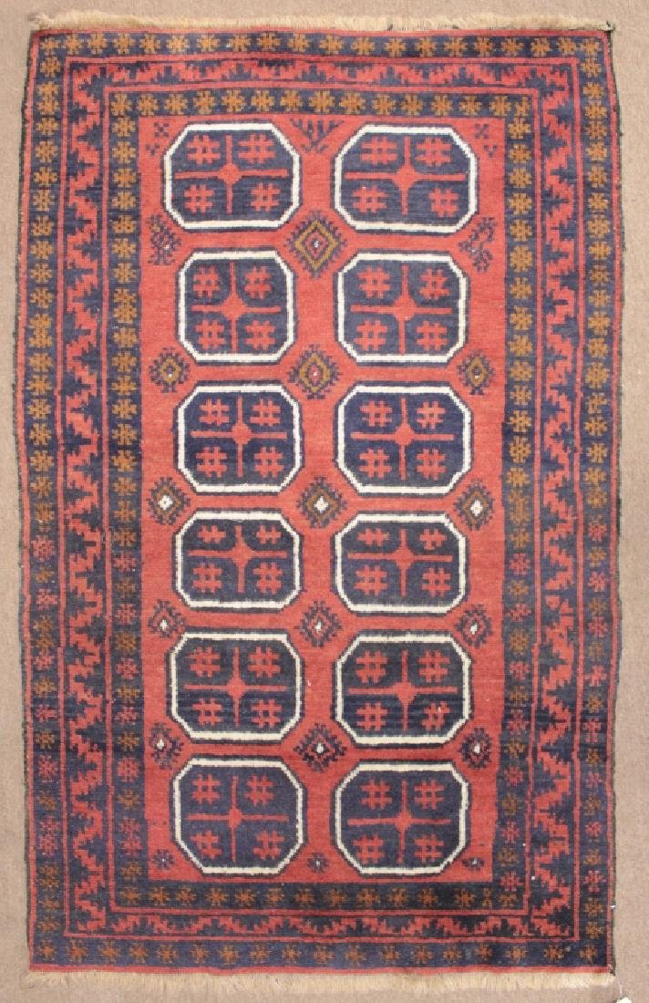 Two Oriental Rugs - Black & Red Grounds - 3