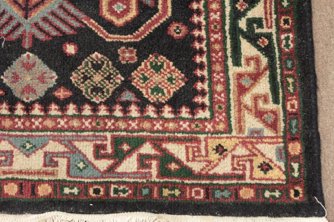 Two Oriental Rugs - Black & Red Grounds - 4