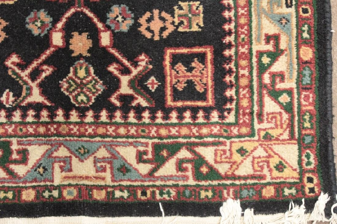 Two Oriental Rugs - Black & Red Grounds - 5