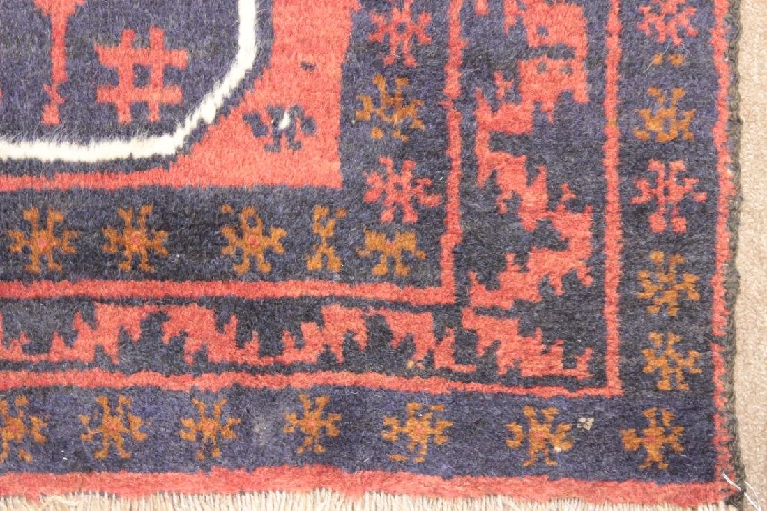 Two Oriental Rugs - Black & Red Grounds - 7