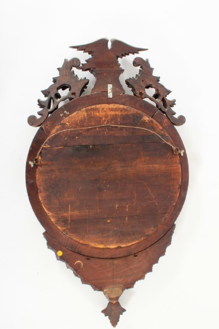 19th C. Regency Mahogany Convex Mirror - 7