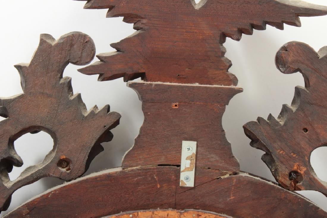 19th C. Regency Mahogany Convex Mirror - 9
