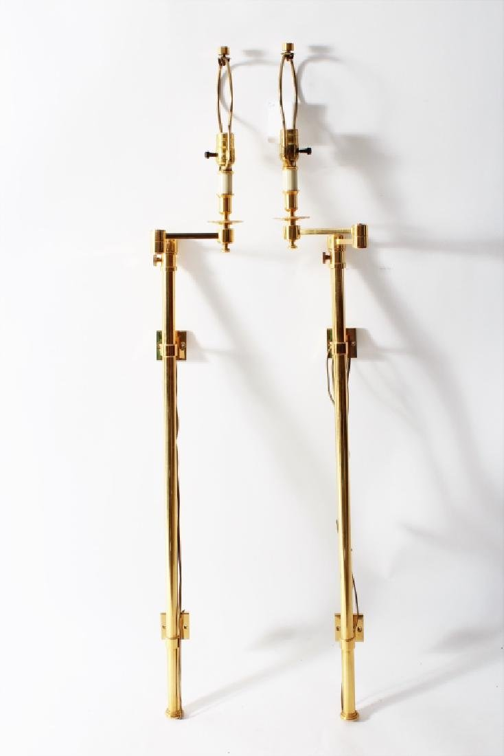 Pair of Wall Mounted Brass Sconces