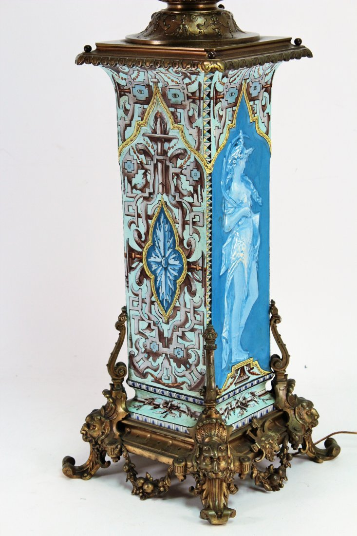 Limoges Vase as Large Bronze Mounted Lamp, c. 1870 - 2