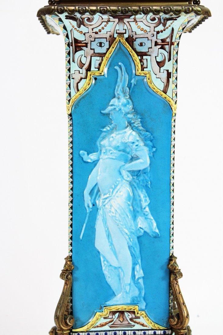 Limoges Vase as Large Bronze Mounted Lamp, c. 1870 - 6