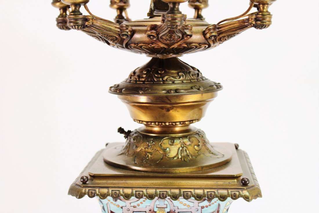 Limoges Vase as Large Bronze Mounted Lamp, c. 1870 - 7