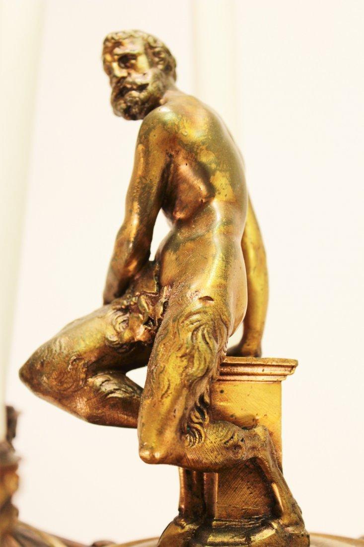 Limoges Vase as Large Bronze Mounted Lamp, c. 1870 - 8