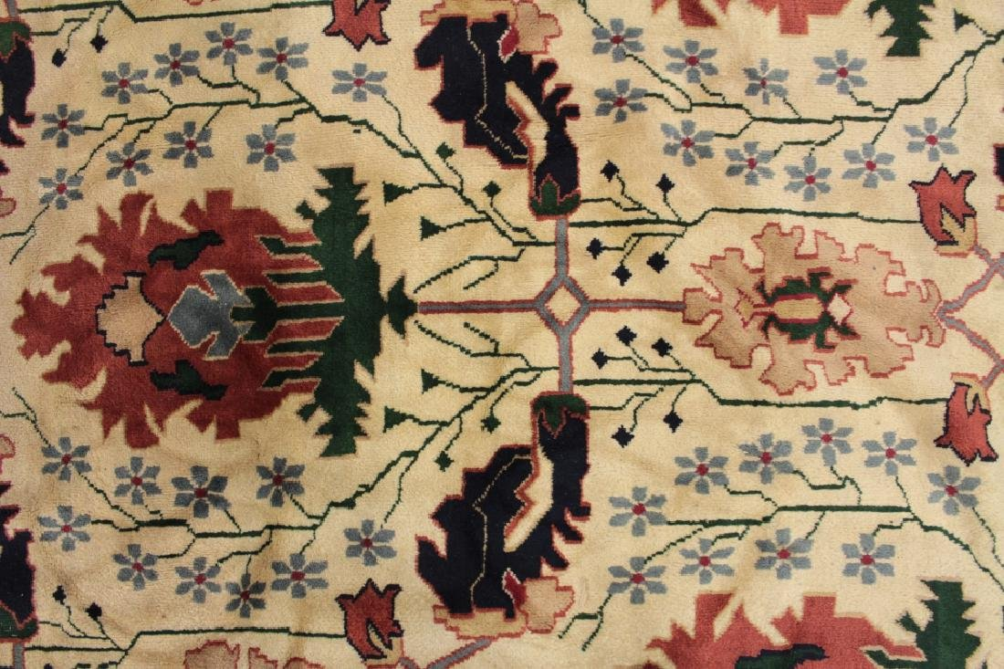 White Ground Hand Knotted Carpet