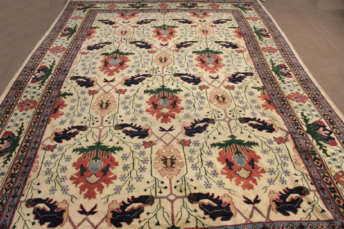 White Ground Hand Knotted Carpet - 2