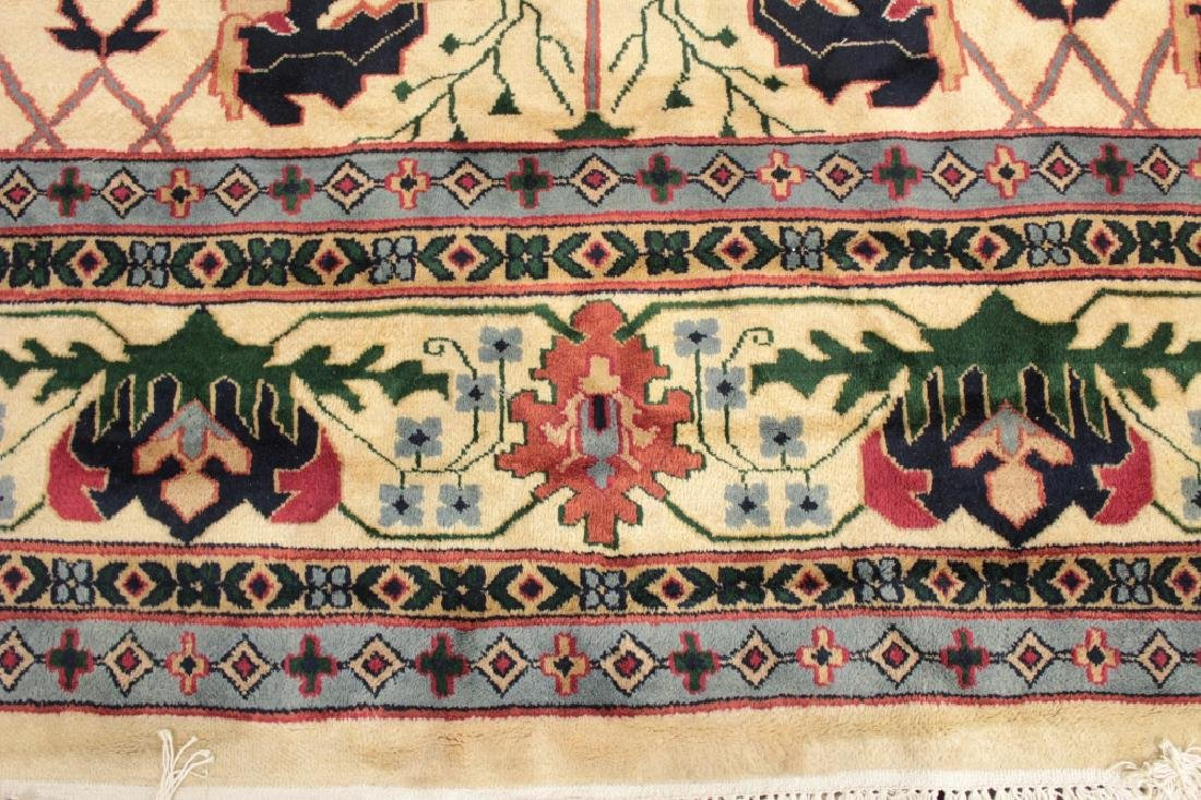 White Ground Hand Knotted Carpet - 5