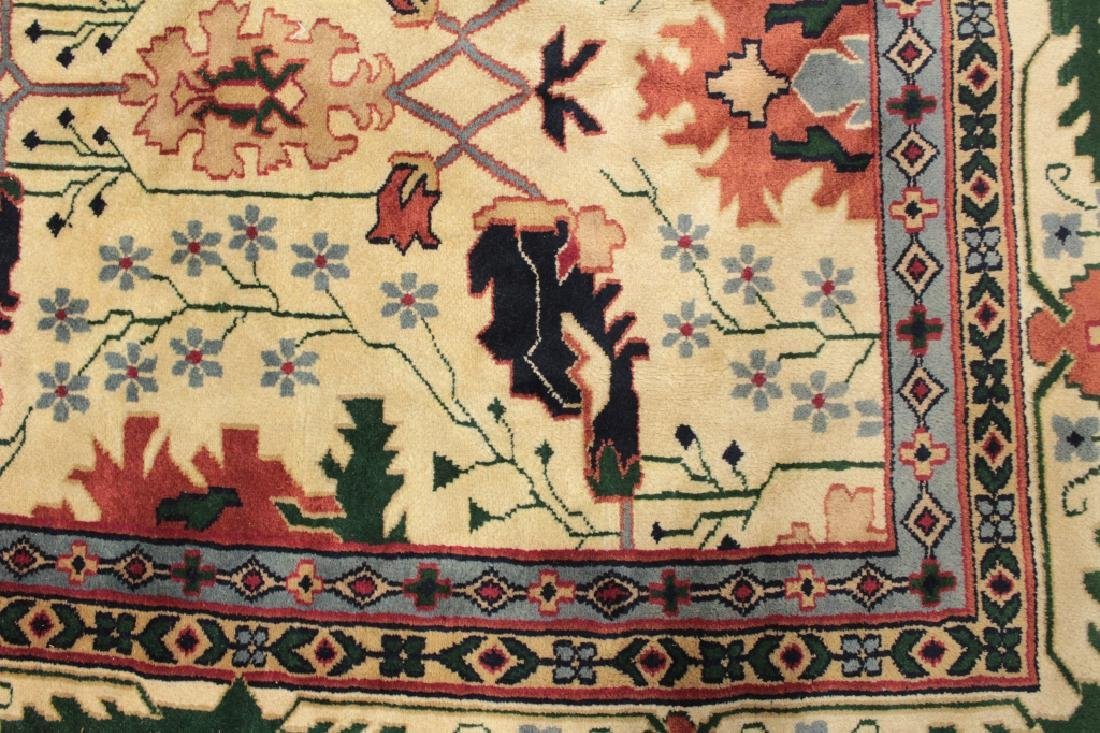 White Ground Hand Knotted Carpet - 6