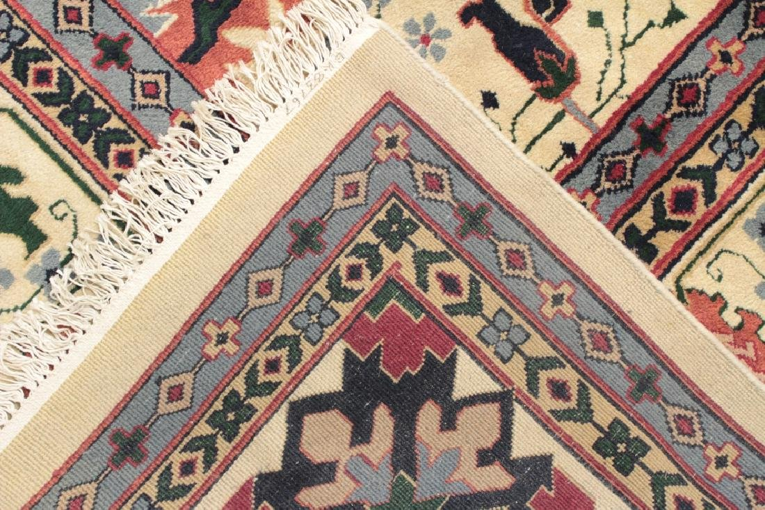 White Ground Hand Knotted Carpet - 7