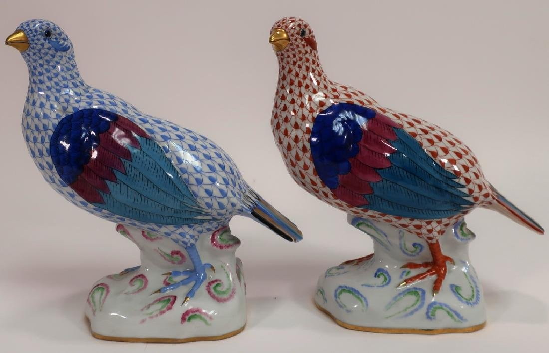 2 Herend Hand Painted Birds