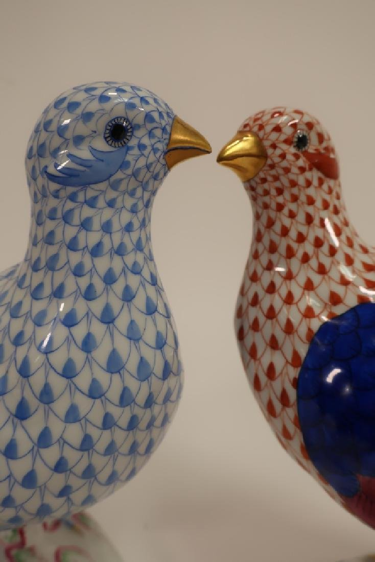 2 Herend Hand Painted Birds - 5