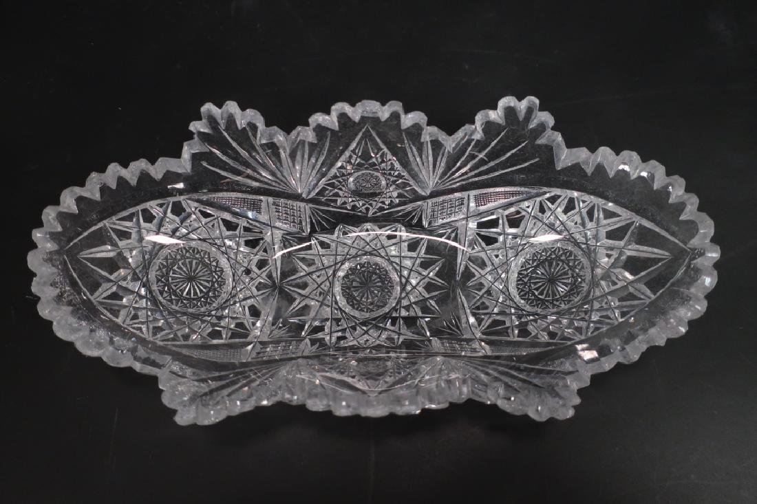 Three Pieces of Old Brilliant Cut Glass - 4