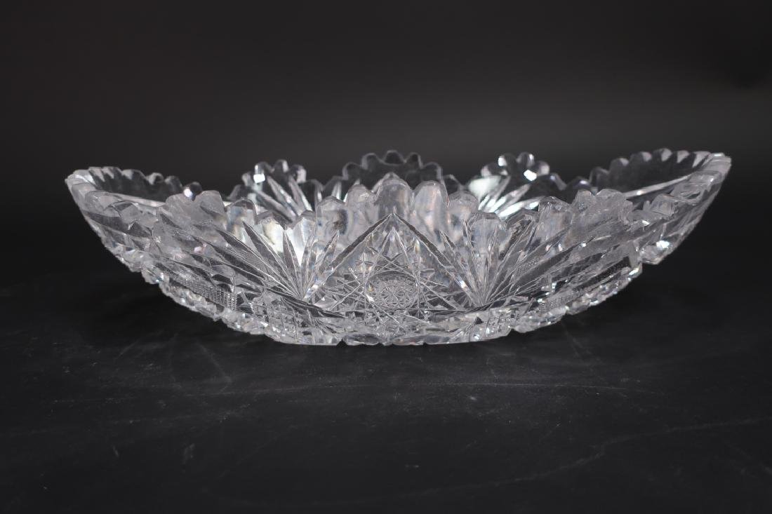 Three Pieces of Old Brilliant Cut Glass - 5