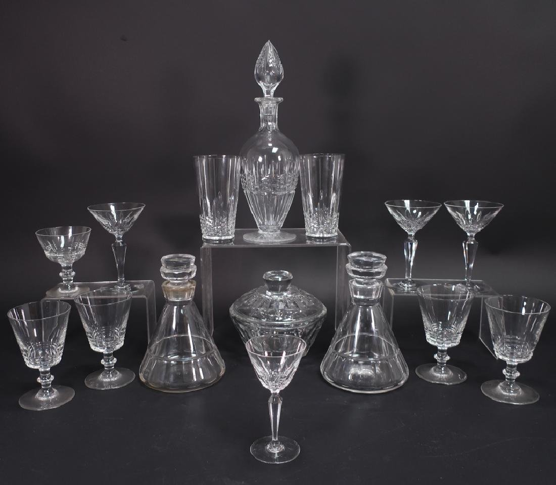 15 Crystal Baccarat  Decanters Glasses Candy Dish