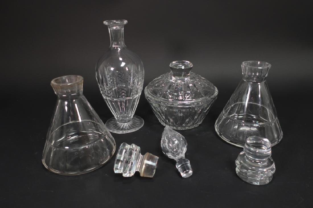 15 Crystal Baccarat  Decanters Glasses Candy Dish - 2