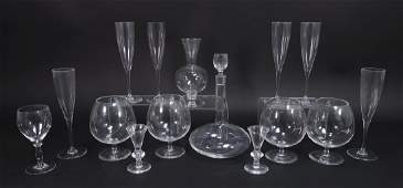 14 Crystal Items Steuben Snifters Baccarat Kosta