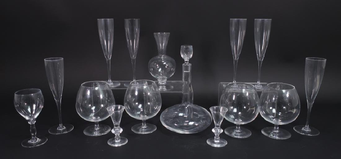 14 Crystal Items: Steuben Snifters Baccarat Kosta