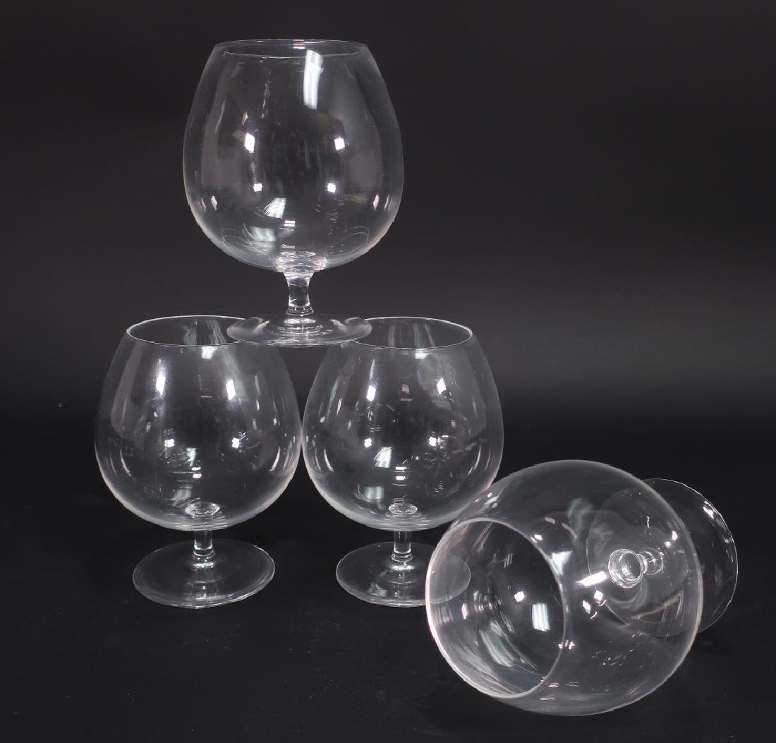 14 Crystal Items: Steuben Snifters Baccarat Kosta - 3