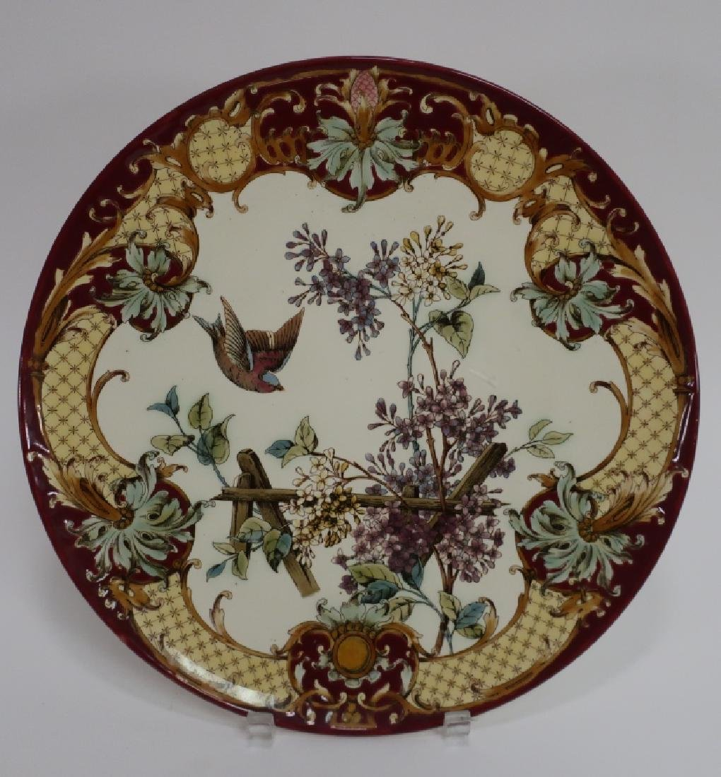 Pair Aesthetic Movement-Style Porcelain Chargers - 3