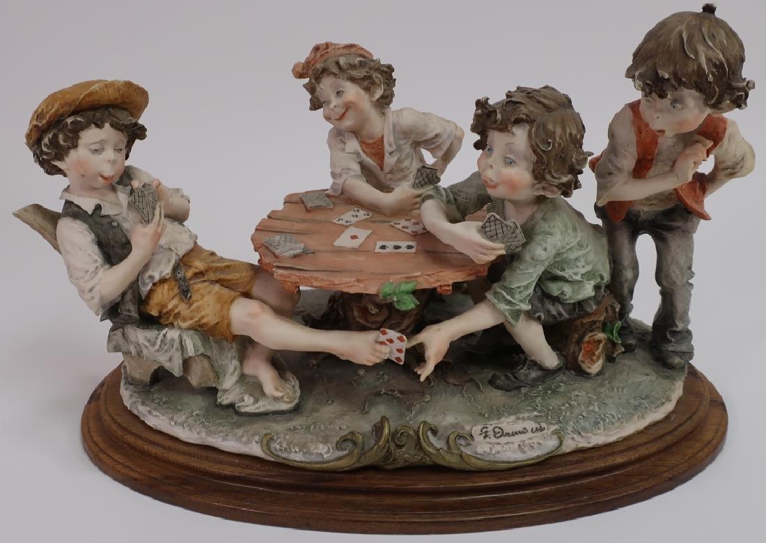 Giuseppe Armani Figurine: The Cheaters Cardplayers