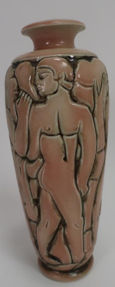 Gres Mougin Nancy Art Deco Vase, c. 1930 - 3