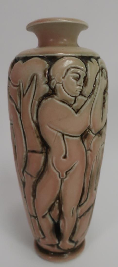 Gres Mougin Nancy Art Deco Vase, c. 1930 - 4