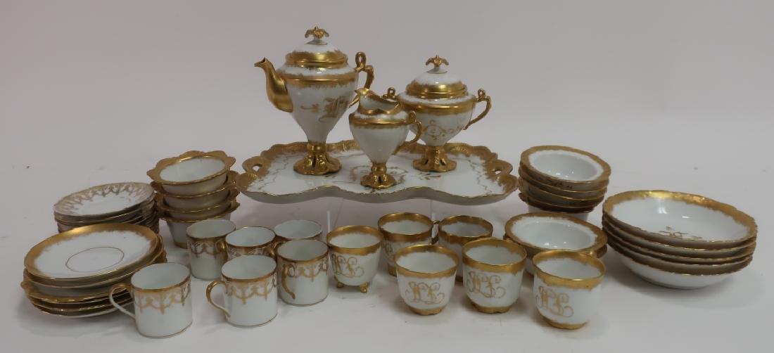 Enameled Gold on Ivory Porcelain Limoges Group