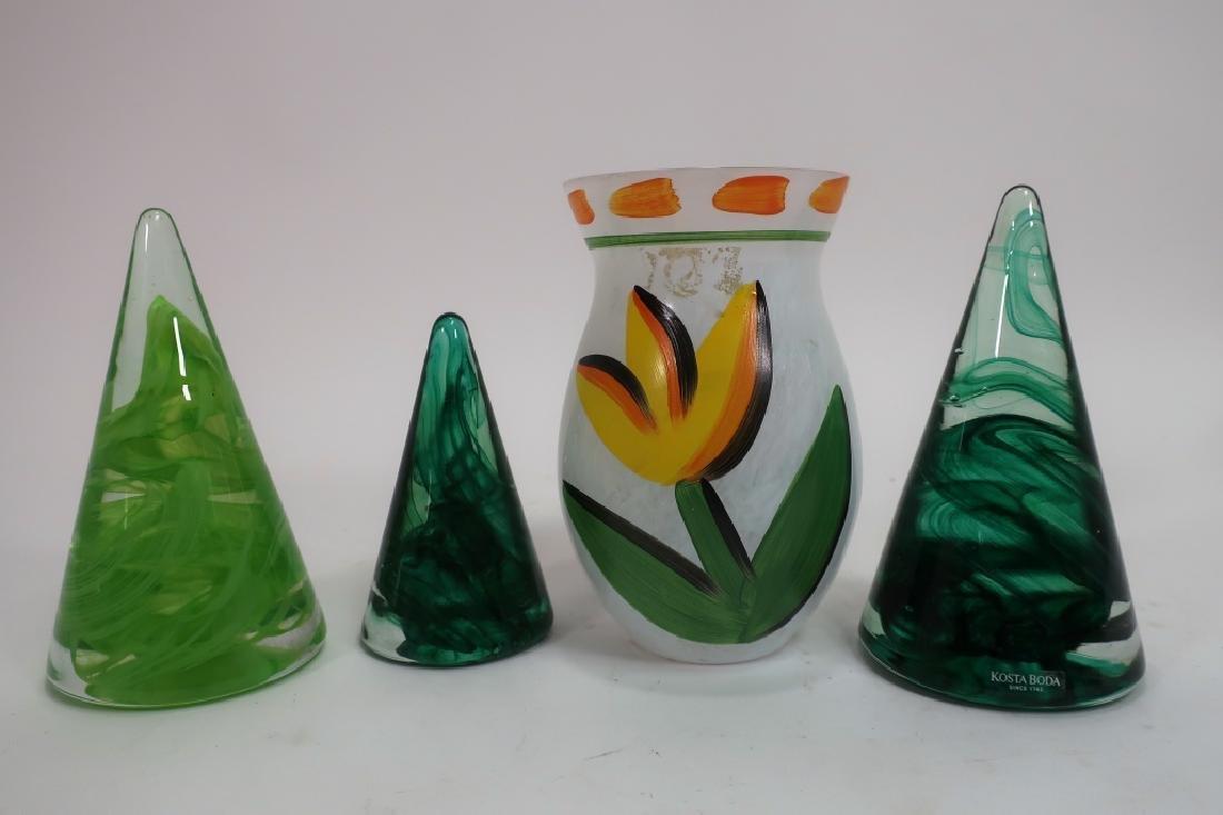 Lot of 9 Decorative Glass Items, incl. Kosta Boda - 4