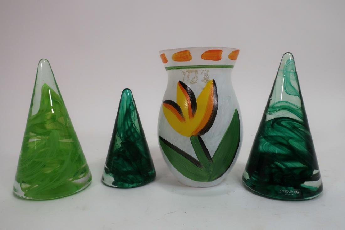 Lot of 9 Decorative Glass Items, incl. Kosta Boda - 4