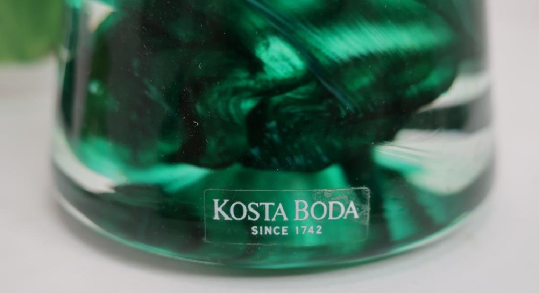 Lot of 9 Decorative Glass Items, incl. Kosta Boda - 5