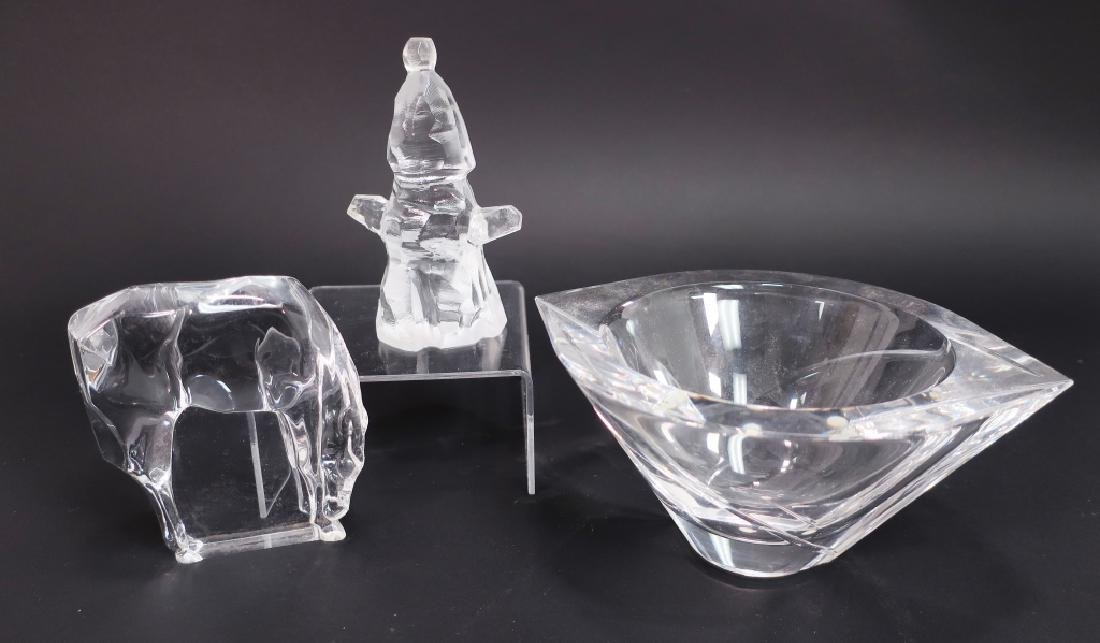 Lot of 9 Decorative Glass Items, incl. Kosta Boda - 6