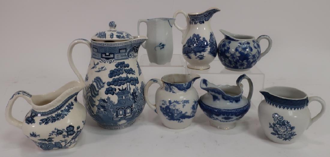 Lot of English Blue & White Porcelain, Ironstone, - 5
