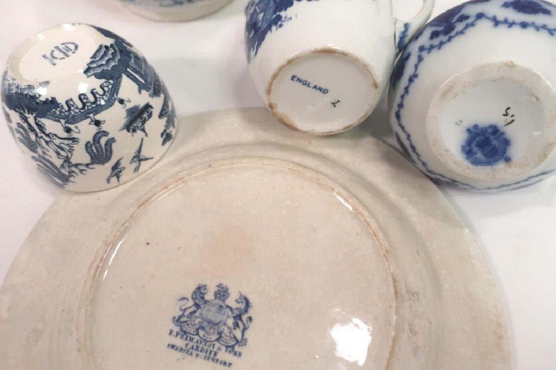 Lot of English Blue & White Porcelain, Ironstone, - 7