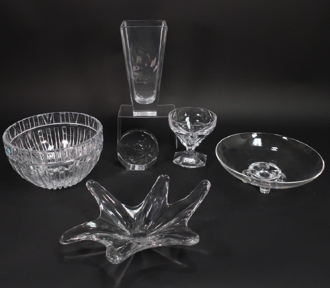 6 Crystal Items Tiffany Baccarat Steuben Lambert