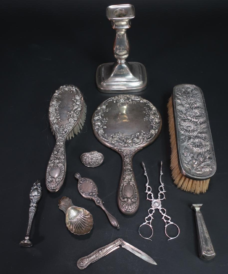 12 Sterling and Silverplate Items