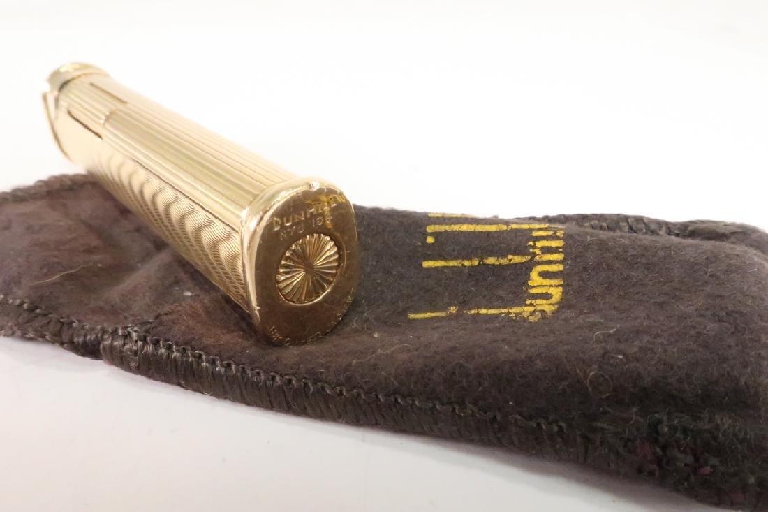 18k Gold Engraved Wave Motif Dunhill Lighter - 4