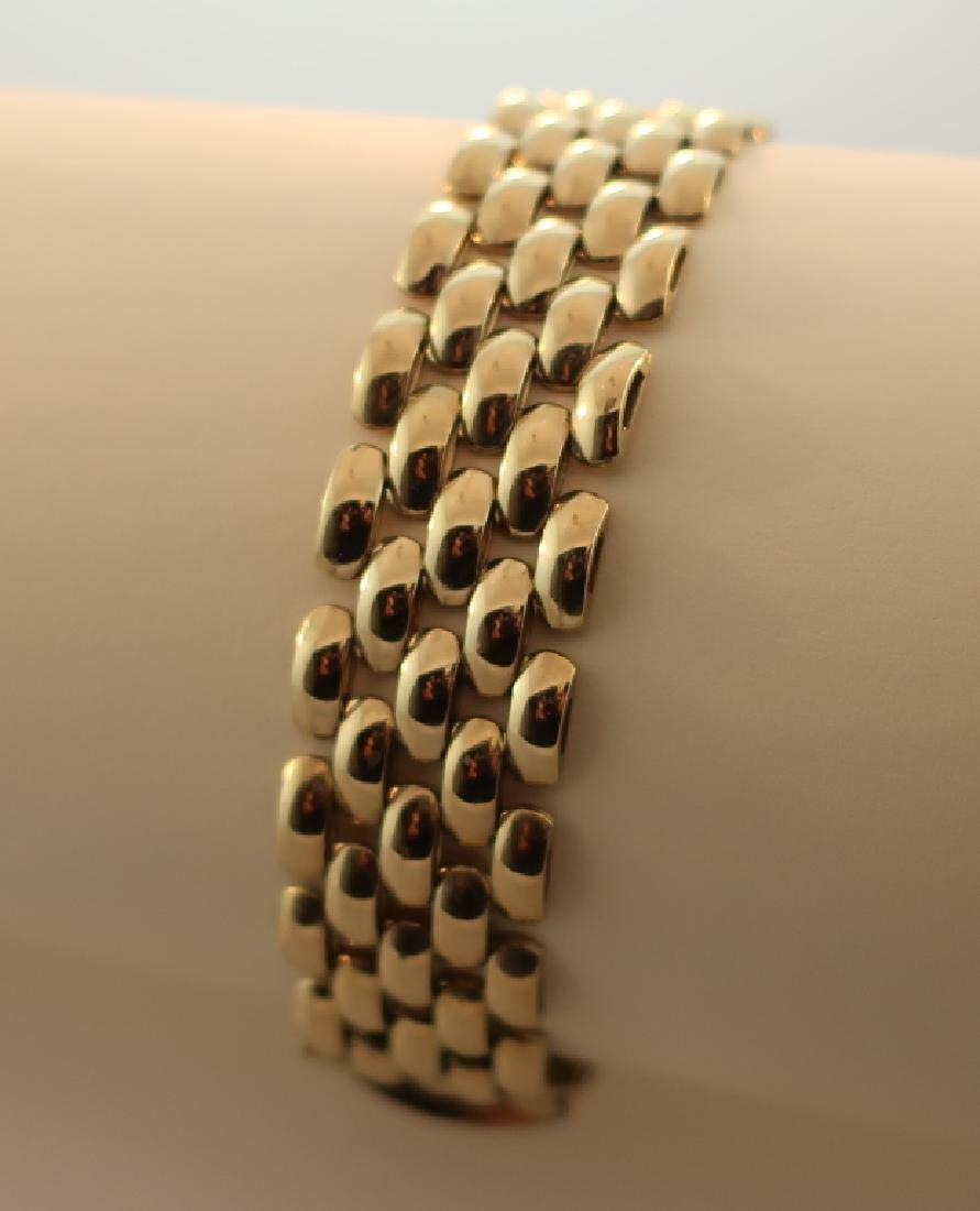 14 kt Gold Linked Bracelet Italy 28.3 Grams