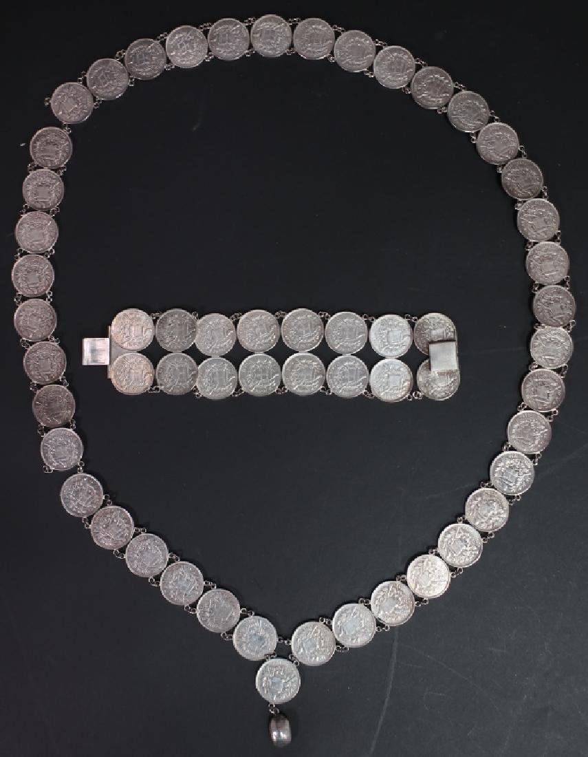 Necklace and Bracelet of .835 Silver Coins
