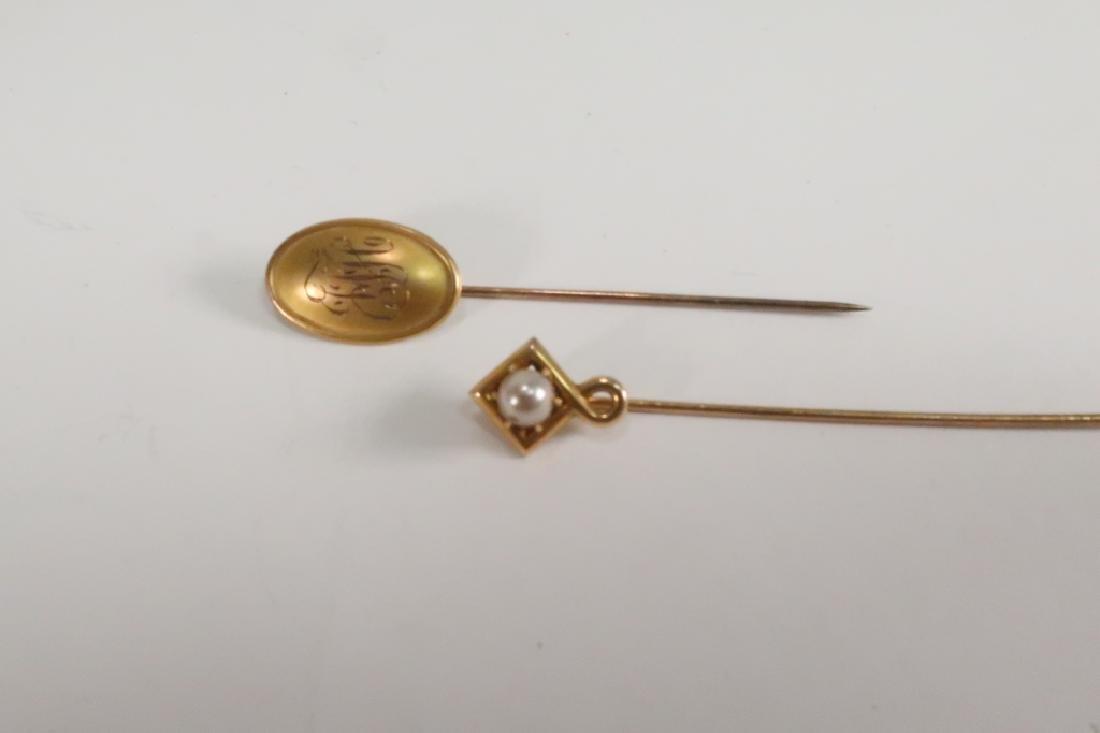 Lot of 10 14 kt Gold Jewelry Vict Locket Cufflinks - 2