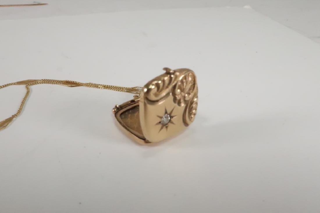 Lot of 10 14 kt Gold Jewelry Vict Locket Cufflinks - 3